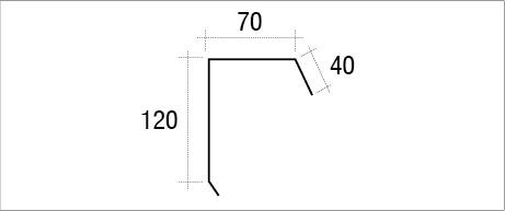 Remate lateral pestaña teja